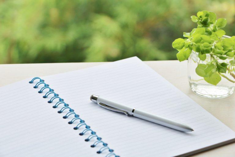 不安を紙に書く